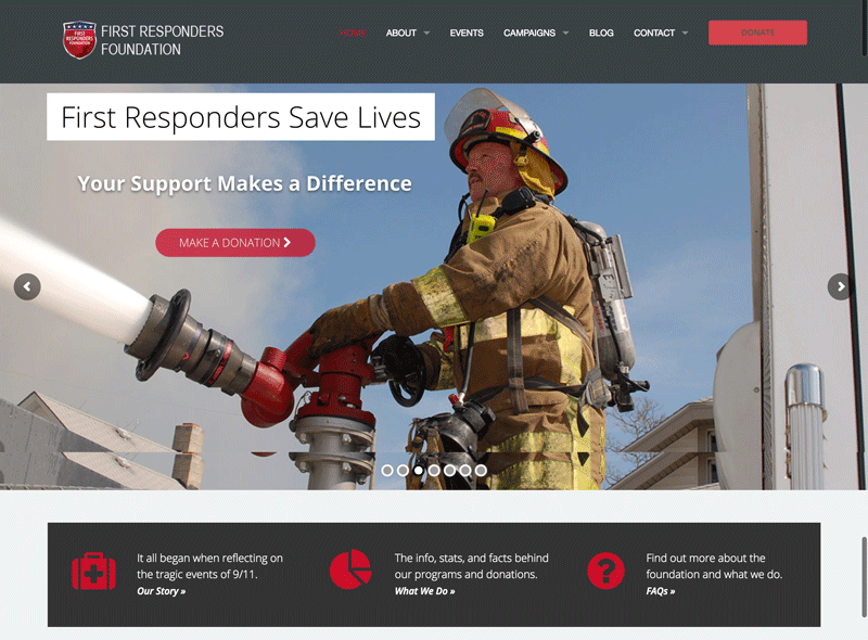 First Responders Foundation: Website
