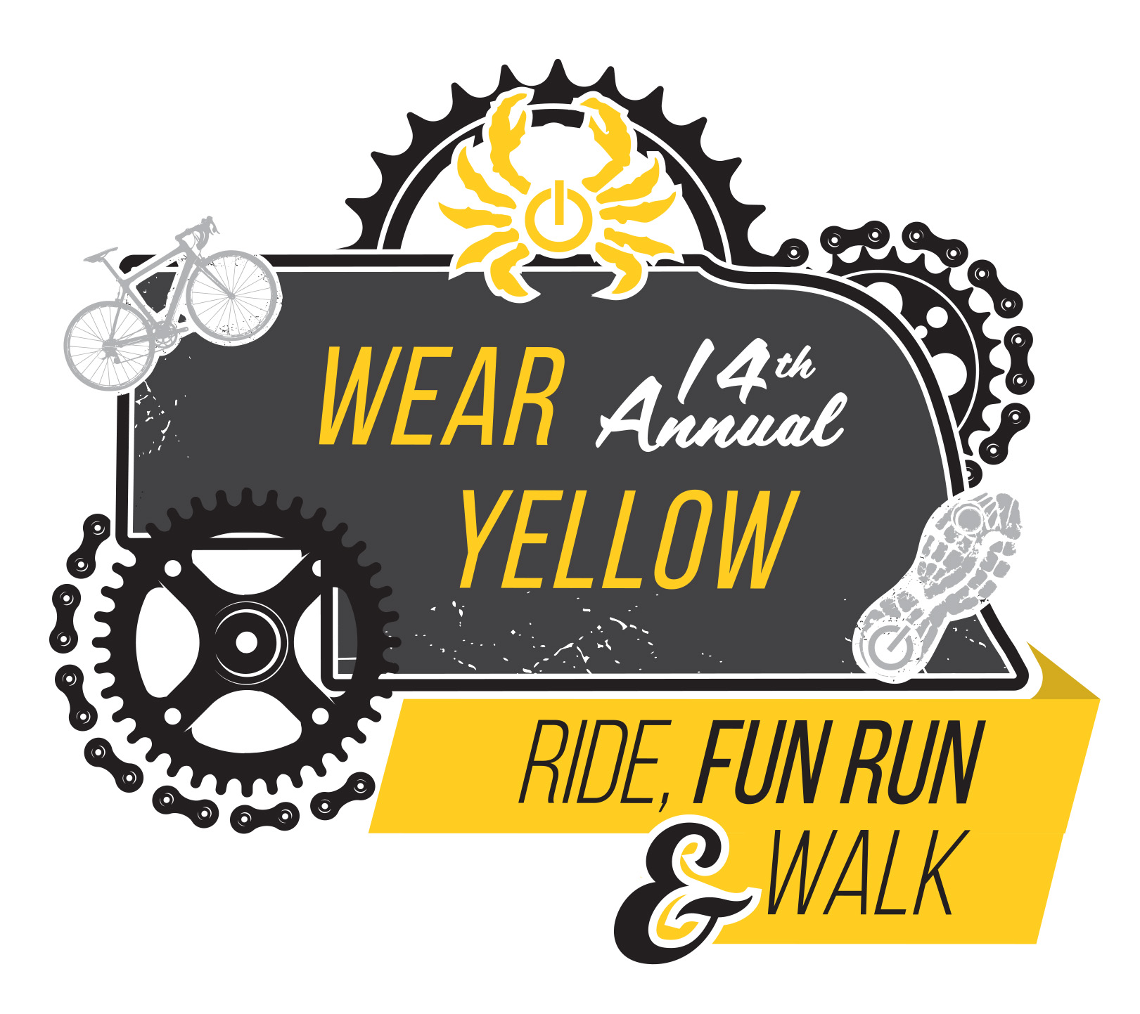 Wear Yellow Ride Event Logo